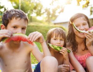 Kids Choice Watermelons Gallery kids eating fresh watermelon