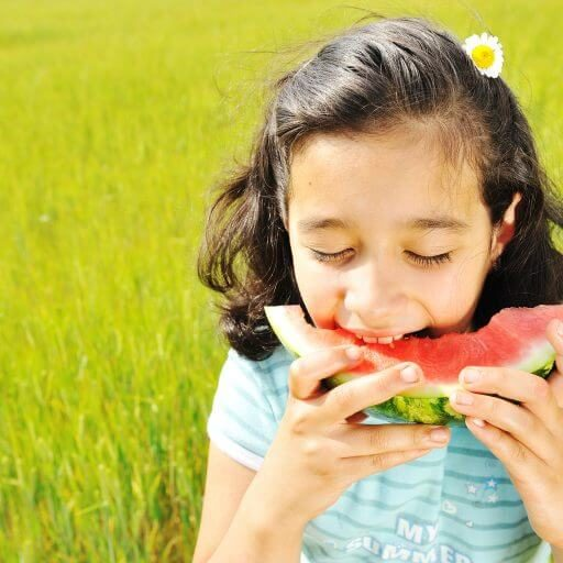 what we do Kids Choice Watermelons girl eating watermelons